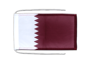 Qatar Flag with ropes 8x12""