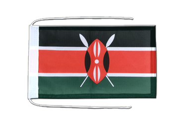 Kenya Flag with ropes 8x12""