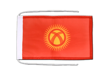 Kyrgyzstan Flag with ropes 8x12""