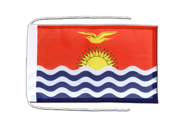 Kiribati Flag with ropes 8x12""