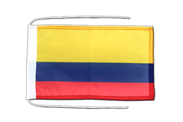 Colombia Flag with ropes 8x12""