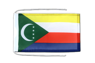 Comoros Flag with ropes 8x12""