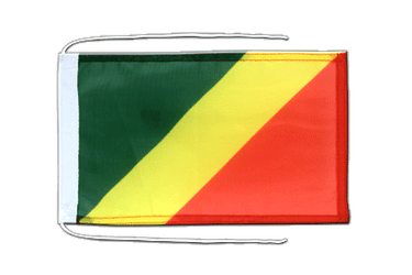 Congo - Flag with ropes 8x12""