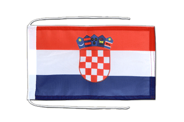 Croatia Flag with ropes 8x12""