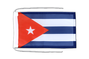 Cuba Flag with ropes 8x12""
