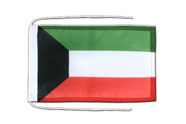Kuwait Flag with ropes 8x12""