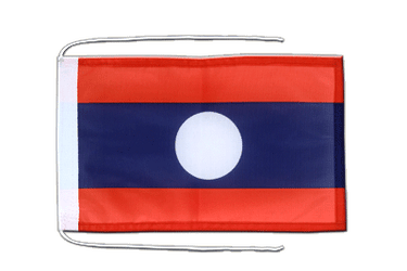 Laos Flag with ropes 8x12""