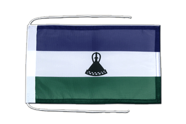 Lesotho new Flag with ropes 8x12""