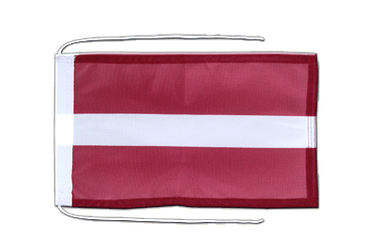Latvia Flag with ropes 8x12""