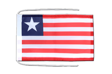 Liberia - Flag with ropes 8x12""