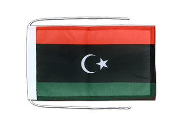 Kingdom of Libya 1951-1969 Opposition Flag Anti-Gaddafi Forces - Flag with ropes 8x12""