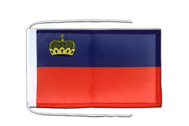 Liechtenstein Flag with ropes 8x12""