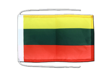 Lithuania Flag with ropes 8x12""