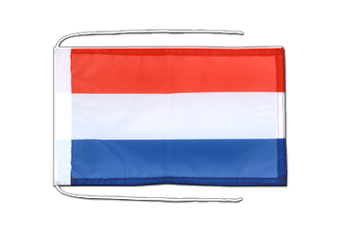 Luxembourg Flag with ropes 8x12""