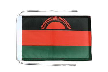 Malawi Flag with ropes 8x12""