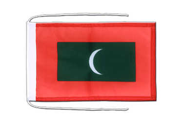 Maldives Flag with ropes 8x12""
