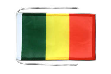 Mali Flag with ropes 8x12""