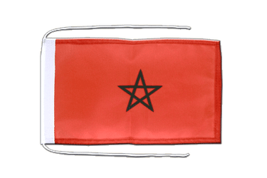 Morocco Flag with ropes 8x12""