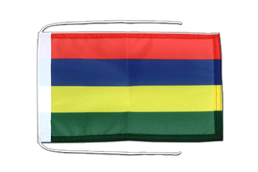 Mauritius - Flag with ropes 8x12""