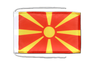 Macedonia Flag with ropes 8x12""