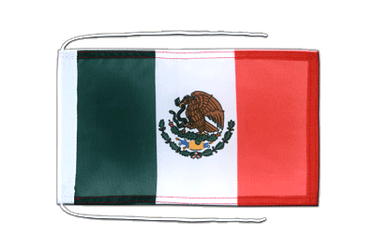 Mexico Flag with ropes 8x12""