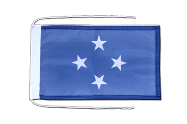 Micronesia - Flag with ropes 8x12""