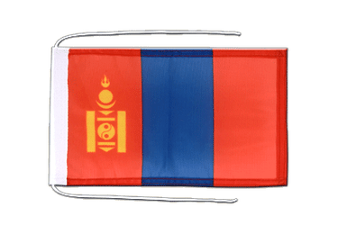 Mongolia Flag with ropes 8x12""