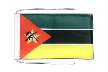 Mozambique - Flag with ropes 8x12""