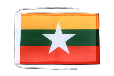 Myanmar new Flag with ropes 8x12""