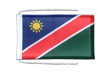 Namibia - Flag with ropes 8x12""