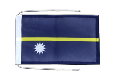 Nauru - Flag with ropes 8x12""