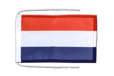 Netherlands Flag with ropes 8x12""