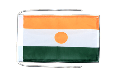 Niger Flag with ropes 8x12""