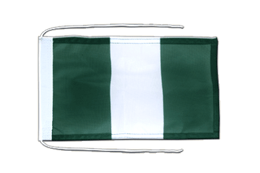 Nigeria - Flag with ropes 8x12""