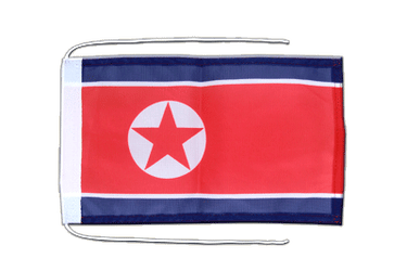 North corea Flag with ropes 8x12""