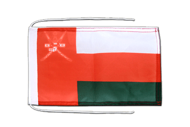 Oman Flag with ropes 8x12""