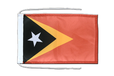 East Timor - Flag with ropes 8x12""