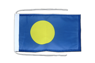 Palau Flag with ropes 8x12""