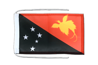 Papua New Guinea - Flag with ropes 8x12""