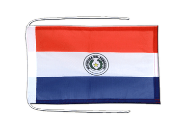 Paraguay Flag with ropes 8x12""