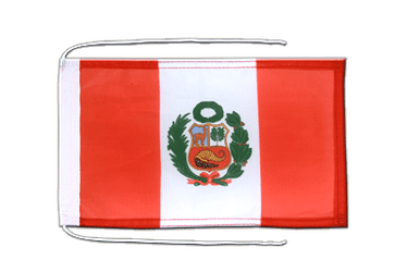 Peru Flag with ropes 8x12""