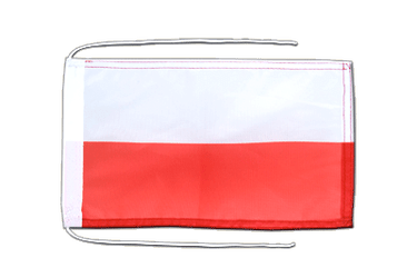 Poland Flag with ropes 8x12""
