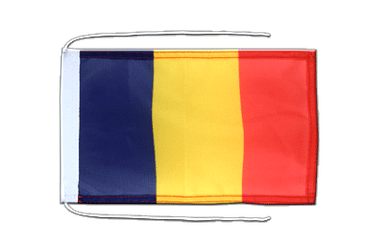 Rumania - Flag with ropes 8x12""