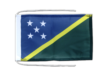 Solomon Islands - Flag with ropes 8x12""