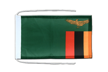 Zambia - Flag with ropes 8x12""