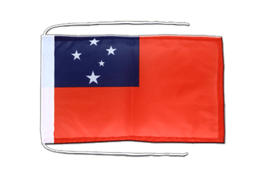 Samoa Flag with ropes 8x12""