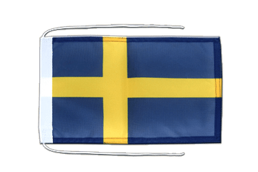 Sweden Flag with ropes 8x12""