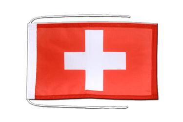 Switzerland Flag with ropes 8x12""