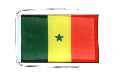 Senegal Flag with ropes 8x12""