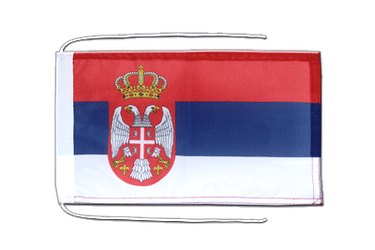 Serbia with crest Flag with ropes 8x12""